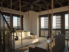 Swinging seats at this Rosemary Beach House Rental: Beautiful Vacation Home In Alys Beach   HomeAway