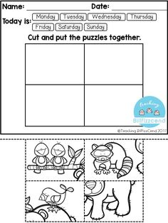 FREE Fine Motor Skill and Handwriting Practice. Super duper cute worksheets for your Pre-K and Kindergarten students. | Pre-K Handwriting | Kindergarten Handwriting | Preschool | Kindergarten Writing | Free Kindergarten Worksheets | Kindergarten Freebies | Fine motor skill | Puzzles for Kindergarten | Kindergarten Tracing |