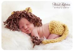 Lion Cub prop plus Diaper Cover with Tail Photo Package. $38.00, via Etsy.