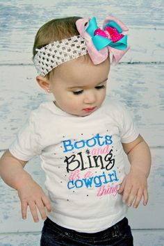 Boots & Bling its a cowgirl thing by PrincessEmmaCouture on Etsy, $19.99