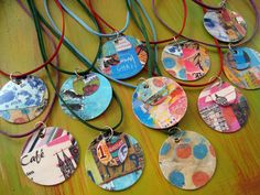 cut and paste necklaces DIY ... http://artsyville.blogspot.com/2010/04/cut-and-paste-necklaces.html