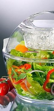 A must have for backyard barbecues, the Iced Up Salad to Go™ will keep your food chilled and fresh whether on the go or at the table.