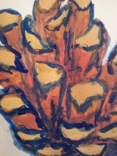 a great pinecone from the Adult Art Class at Faux Arts