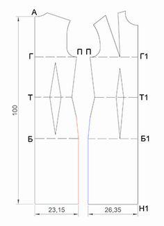 Выкройка - основа - это базовый чертеж изделия, изготовленный по индивидуальным меркам, выполненный на бумаге, на основе которого в дальнейшем моделируются различные фасоны.