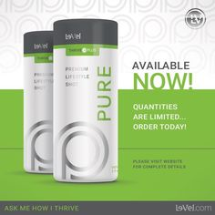 THRIVE Plus - Pure Premium Lifestyle Shot ~so cool ~so fun...everyone will want it!!   >Ultra premium vitamin & amino acid supplement >Cherry limeade flavor!  >The newest addition to the Thrive Plus line is here, the newest addition to the Thrive Experience is PURE! Pure Energy Pure Focus Pure Stamina Zero Calories Zero Sugars  www.thrive2bactive.le-vel.com