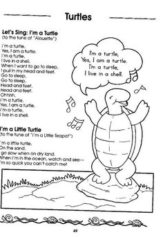 Preschool Music, Toddler Preschool, Preschool Activities, Songs For Toddlers, Kids Songs, Reptiles, Amphibians, Franklin The Turtle, Oceans Song