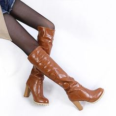 (35.00$)  Buy here - http://aiho9.worlditems.win/all/product.php?id=32235872373 - Free shipping 2014 autumn New Hot Fashion sexy ladies long boots Women Knee High boots Slip-on boots women shoes big size 34-43