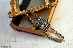 Vintage Rhinestone Brass and Silver One of a Kind by simplymeart, $70.00