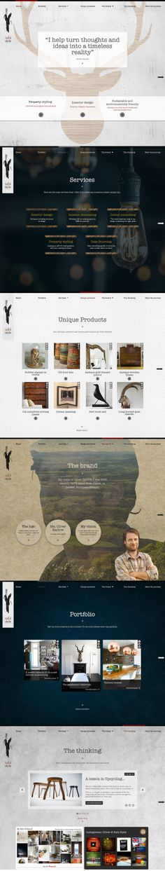 Concept horizontal scrolling website design for an interior designer by Anna at Media Heroes