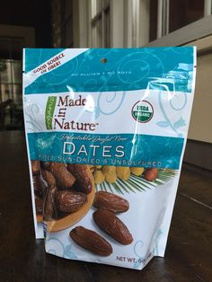 Organic Dates. Earthfare Shopping List. When you are dying for something sweet, these natural single ingredient dried fruits will do the trick. Full of fiber and nutrients. Though dates are high in sugar, they have a low glycemic score because they are packed with fiber (this slows down the release of sugar into your blood stream). Chocolate is high on the glycemic index and it will keep you up at night.