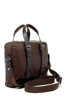 HUGO BOSS | Buckle Strap Leather Zip Brief | Nordstrom Rack