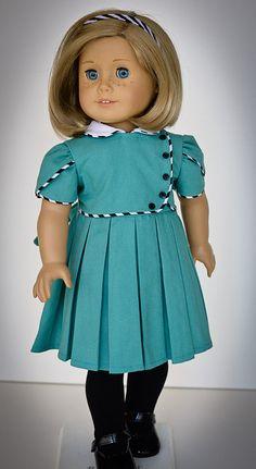 1930s Dress for American Girl by AnnasGirls on Etsy