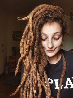 has  Dreadlocks Girl, Dreads Women, Locs, Gypsy Style, Hippie Style, Dreads Styles, Hair Styles, Thick Dreads, Female Dreads