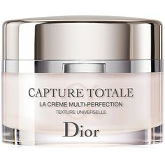 Dior Capture Totale Multi-Perfection Creme Universal Texture-2.02 oz. ($165) ❤ liked on Polyvore featuring beauty products, skincare, face care, face moisturizers, no color and christian dior