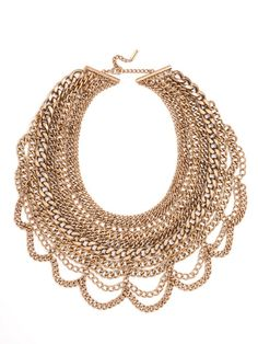 The Courtney Bib Necklace | BaubleBar - gorgeous in rose gold!