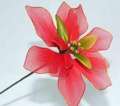 Handmade Stocking Poinsettia for Christmas holiday decor - CraftStylish