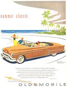1953 Oldsmobile Ninety-Eight Convertible - Summer Classic - Original Ad