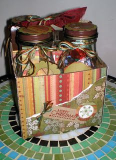 Altered Starbucks Frap bottles and case - filled with Christmas goodies!