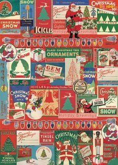 Vintage Christmas Wrap (J7)