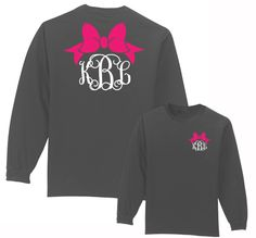 Preppy Bow monogram