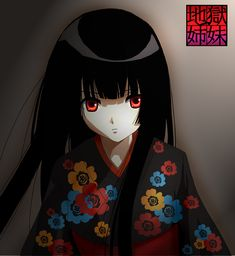 Enma Ai of Jigoku Shoujo (Hell Girl). I've been watching the anime all weekend and I've always wanted to draw her, I just think she's so . Anime Manga, Anime Art, Enma Ai, Hero Tv, Anime Watch, Hell Girl, Cute Anime Character, Manga Love, The Villain