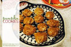 Pumpkin Cookies  {with printable recipe card}, #HolidayBaking, #cookies, #cookie