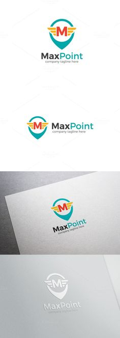 Max Point Letter M Logo. Logo Templates. $26.00