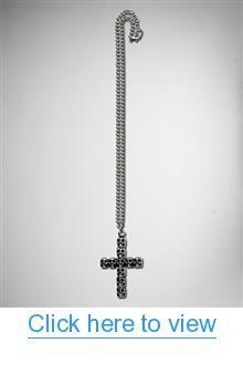 Skull Cross Necklace #Skull #Cross #Necklace