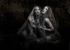 "Beneath the Veil - ""Beneath the Veil"" David Hobbs Photography Models: Astrid Von Winter and Jenovax Lilith MUA: Kimi Clay"