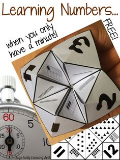 FREE Cootie Catchers for numbers 1-12 including tally marks, ten frames and groups (Liz's Early Learning Spot)