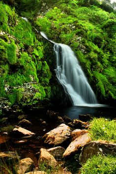 Waterfall in Maghery, Donegal, Ireland