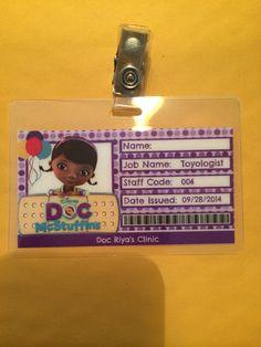 Doc McStuffins gafetes por CreativeKidShop en Etsy