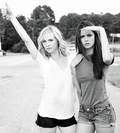 blondes women actress celebrity grayscale Nina Dobrev singers monochrome Candice Accola The Vampire Diaries - Wallpaper ( / Wallbase. Katherine Pierce, Serie The Vampire Diaries, Vampire Diaries The Originals, Nina Dobrev Vampire Diaries, Caroline Forbes, Damon Salvatore, Delena, Elena E Damon, Paul Wesley