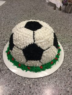 Soccer ball smash cake