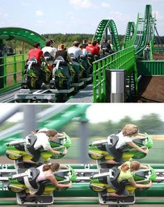 Motorcycle Roller Coaster, 0-75 in 3 sec Toverland, The Netherlands