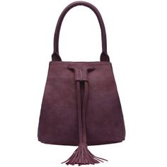 SheIn(sheinside) Purple Tassel Drawstring Shoulder Bag