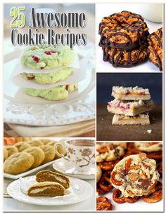 25 Awesome Cookie Recipes!  Try some cookies that are different...you will find them here...Yummy in your tummy creations!  Hop on over to TheCottageMarket.com for a sweet treat! Hugs...