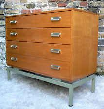 60s G-PLAN TEAK CHEST OF DRAWERS  50s 70s retro vintage mid-century Danish-style