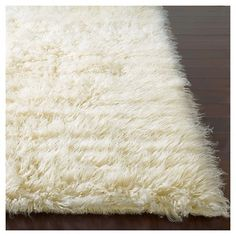 nuLOOM 100% Wool Hand Woven Genuine Greek Flokati Area Rug - Off-White (5' Round), Off White