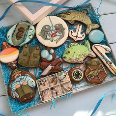 Большой набор рыбака #НП_рыбалка #неслучайноепеченье_спецзаказ #неслучайноепеченье_спорт #нп_спорт-Fisherman Cookies