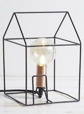House Outline Table Lamp, Black