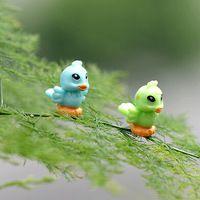 Nova chegada artificial pássaro bonito 1.5 cm animais miniaturas de fadas jardim gnomos resina artesanato para bonsai garrafa de decoração de jardim