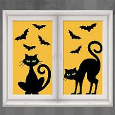Use these window decorations along with the Tree Scene Setter and your house will have that complete halloween feel. This is ideal for younger trick or treaters.