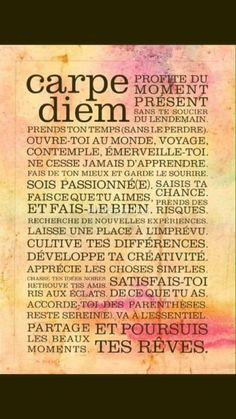 Positive Attitude, Positive Life, Carpe Diem Quotes, Words Quotes, Life Quotes, Burn Out, Quote Citation, Positive Inspiration, French Quotes