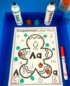 How To Produce Elementary School Much More Enjoyment Gingerbread Man Alphabet Activities - Fun Preschool Alphabet Activities For Winter. Preschool Curriculum, Preschool Worksheets, Preschool Activities, Christmas Worksheets, Christmas Activities, Kindergarten Christmas, Alphabet Activities, Hands On Activities, Letter Find