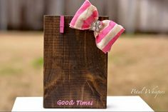 A personal favorite from my Etsy shop https://www.etsy.com/listing/225811956/rustic-standing-wood-block-photo-holder