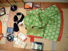 heian style sleeping court lady 風俗博物館展示 2008年 4、女房の局(つぼね)