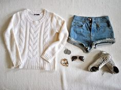 with some grey tights, this would make a perfect fall outfit.