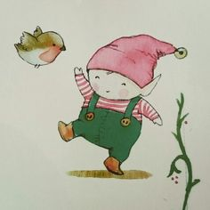 Happy elf. ilustration by Aida Zamora