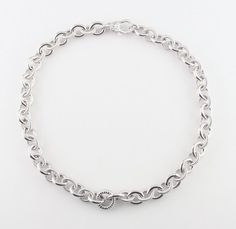 """Judith Ripka Sterling Silver Rolo Chain Link Necklace 18"""" Great Condition! #JudithRipka #Chain"""